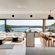 Room with a view? floor, house, interior design, living room, real estate, table, gray