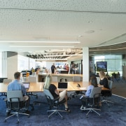 Inside looking out – the Z Energy meeting institution, interior design, office, gray