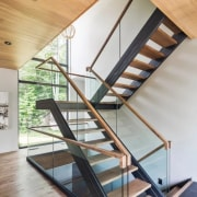 See the home architecture, daylighting, glass, handrail, house, interior design, stairs, structure, wood, gray