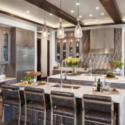 Posellli Kitchen - Applied Photograghy - Client loves ceiling, countertop, dining room, interior design, kitchen, room, gray