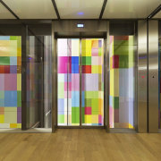 This new headquarters for the European Union Council floor, interior design, brown