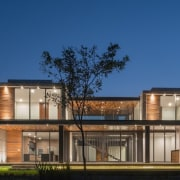 Colima home/Di Frenna Arquitectos architecture, building, elevation, estate, facade, home, house, mixed use, property, real estate, residential area, blue