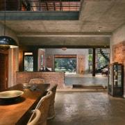 Architect: Studio PKA http://www.purankumar.com/Photographer: Amit Pasricha ceiling, interior design, living room, lobby, real estate, brown