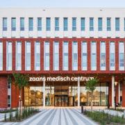 Zaans Medical Centre – Mecanoo building, commercial building, corporate headquarters, facade, mixed use, real estate, white