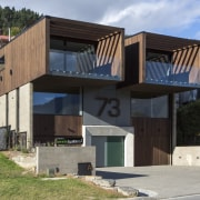 Arrowtown-based Bennie Builders was the only Southern Lakes architecture, building, elevation, facade, home, house, real estate, residential area, black