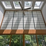 Photo by Boris Suvac architecture, ceiling, daylighting, home, house, interior design, property, real estate, roof, window, wood, gray
