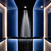 Hotel Ease architecture, light, lighting, symmetry, black, blue
