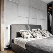 Architect: MetaformaPhotography by Krzysztof Strażyński bed, bed frame, bedroom, floor, home, interior design, property, room, suite, wall, white, gray, black
