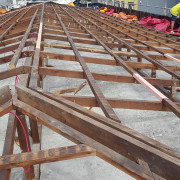 Any dwelling or commercial building built prior to construction, roof, steel, structure, track, wood, gray