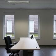 569 firestation daylighting, floor, flooring, interior design, office, window, window covering, gray