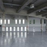 569 firestation floor, flooring, hall, leisure centre, structure, warehouse, gray, black