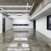The 925 Building daylighting, floor, flooring, interior design, gray, white