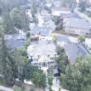 Another sky-high view of the home aerial photography, bird's eye view, city, home, neighbourhood, real estate, residential area, roof, suburb, tree, village, gray
