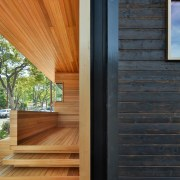 The old meets the new architecture, daylighting, deck, door, facade, floor, hardwood, home, house, interior design, real estate, siding, wall, window, wood, wood flooring, wood stain, black