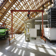 Forestry Branch – Marche-en-Famenne daylighting, roof, structure, white