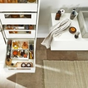 Image from: Blum New Zealand floor, furniture, shelf, white
