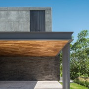 Colima home/Di Frenna Arquitectos architecture, building, daylighting, facade, home, house, real estate, siding, sky, teal