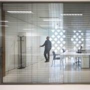 Palace of Justice building | Mecanoo + Ayesa door, floor, flooring, glass, interior design, window, gray, white