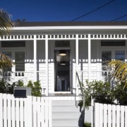 See the home here building, cottage, estate, facade, fence, home, house, picket fence, property, real estate, residential area, white