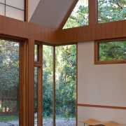 Photo by Jim Tetro architecture, ceiling, daylighting, home, house, interior design, real estate, window, wood, gray, brown