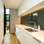 Registered Master Builders – House of the Year architecture, countertop, house, interior design, kitchen, property, real estate, room, orange