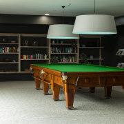 The TIDA NZ Architect-designed apartment winner – Paul billiard room, billiard table, cue sports, english billiards, furniture, games, indoor games and sports, interior design, pool, recreation room, room, table, black, gray