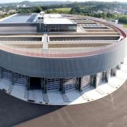 569 firestation arena, building, corporate headquarters, sport venue, structure, gray