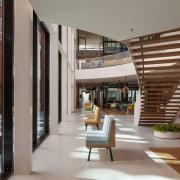 Zaans Medical Centre – Mecanoo architecture, condominium, interior design, lobby, real estate, gray