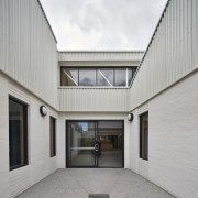 Tom Fisher House architecture, building, daylighting, estate, facade, home, house, property, real estate, window, gray