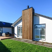 Showhome Taranaki cottage, elevation, facade, home, house, property, real estate, siding, window, teal