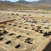 Another view of the foundations being prepared aerial photography, ancient history, bird's eye view, construction, orange