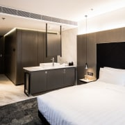 Hotel Ease ceiling, hotel, interior design, room, suite, white