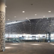 Municipal Offices and Train Station, Delft architecture, building, ceiling, convention center, daylighting, structure, gray