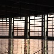 569 firestation architecture, daylighting, glass, light, structure, tourist attraction, window, black
