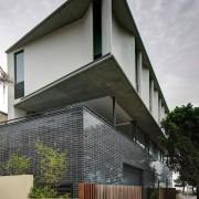 A Horizon Habitats project apartment, architecture, building, commercial building, condominium, corporate headquarters, facade, home, house, real estate, residential area, gray, black
