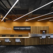 H Academy – Shi-Chieh Lu/CJ Studio ceiling, conference hall, furniture, interior design, lobby, office, product design, black, brown