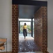 Walking through the tunnel floor, flooring, interior design, wall, gray, brown
