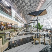 The terminal is one massive volume – important architecture, daylighting, interior design, gray