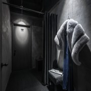 Drama central – changing room props are highlighted black, black and white, darkness, monochrome photography, phenomenon, photography, room, black
