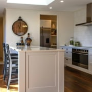 Showhome Taranaki cabinetry, countertop, cuisine classique, floor, flooring, hardwood, home, home appliance, interior design, kitchen, property, real estate, room, wood flooring, gray, brown