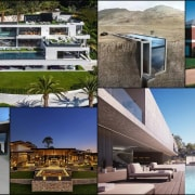 A collage of the featured homes architecture, condominium, estate, home, house, leisure, mansion, property, real estate, resort, villa