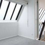 Architect: jbmn architectesPhotographer: Hermann Wendler daylighting, floor, home, house, product, property, real estate, room, wall, window, white, gray