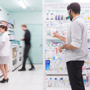 Sergio Mannino Studio designed this pharmacy to be drug, health care, institution, pharmacy technician, product, professional, research, service, white