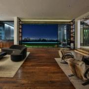 Living room > Lawn > Pool > City floor, flooring, house, interior design, living room, brown