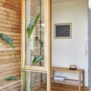 Architect: Irons McDuff ArchitecturePhotography by Nikole Ramsay door, furniture, interior design, window, wood, gray