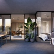 Treehouse at Parkside Walk – MJA Studio interior design, real estate, gray