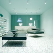 Sergio Mannino Studio designed this pharmacy to be architecture, ceiling, interior design, gray