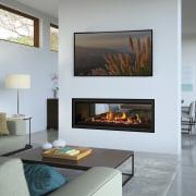Regency Greenfire GF1500LST fireplace, hearth, interior design, living room, wood burning stove, gray
