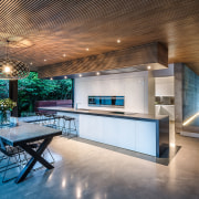This kitchen by designer Kirsty Davis has a architecture, ceiling, estate, home, house, interior design, real estate, gray