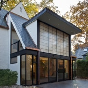 Photo by Jim Tetro architecture, cottage, facade, home, house, property, real estate, roof, siding, window, gray